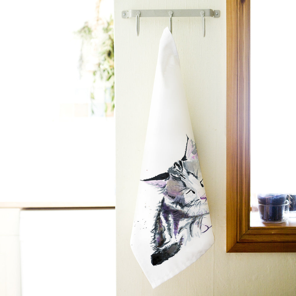 Kate Moby Inky Kitten Tea Towel - PurrfectlyYappy