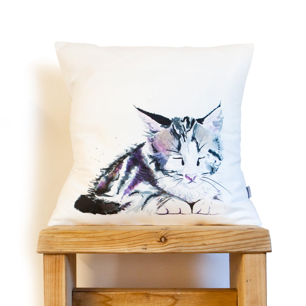 Kate Moby Inky Kitten Cushion - PurrfectlyYappy