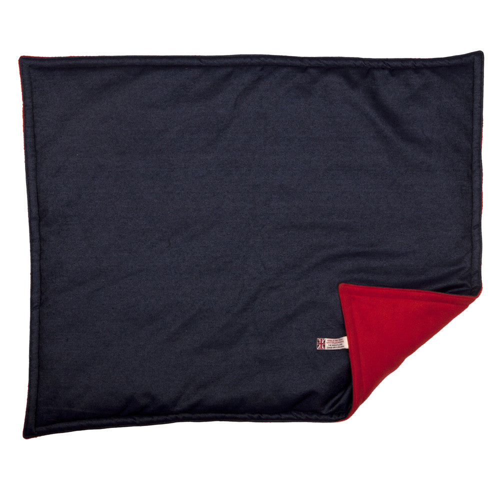 Creature Clothes Padded Blanket in Denim with Red Fleece - PurrfectlyYappy