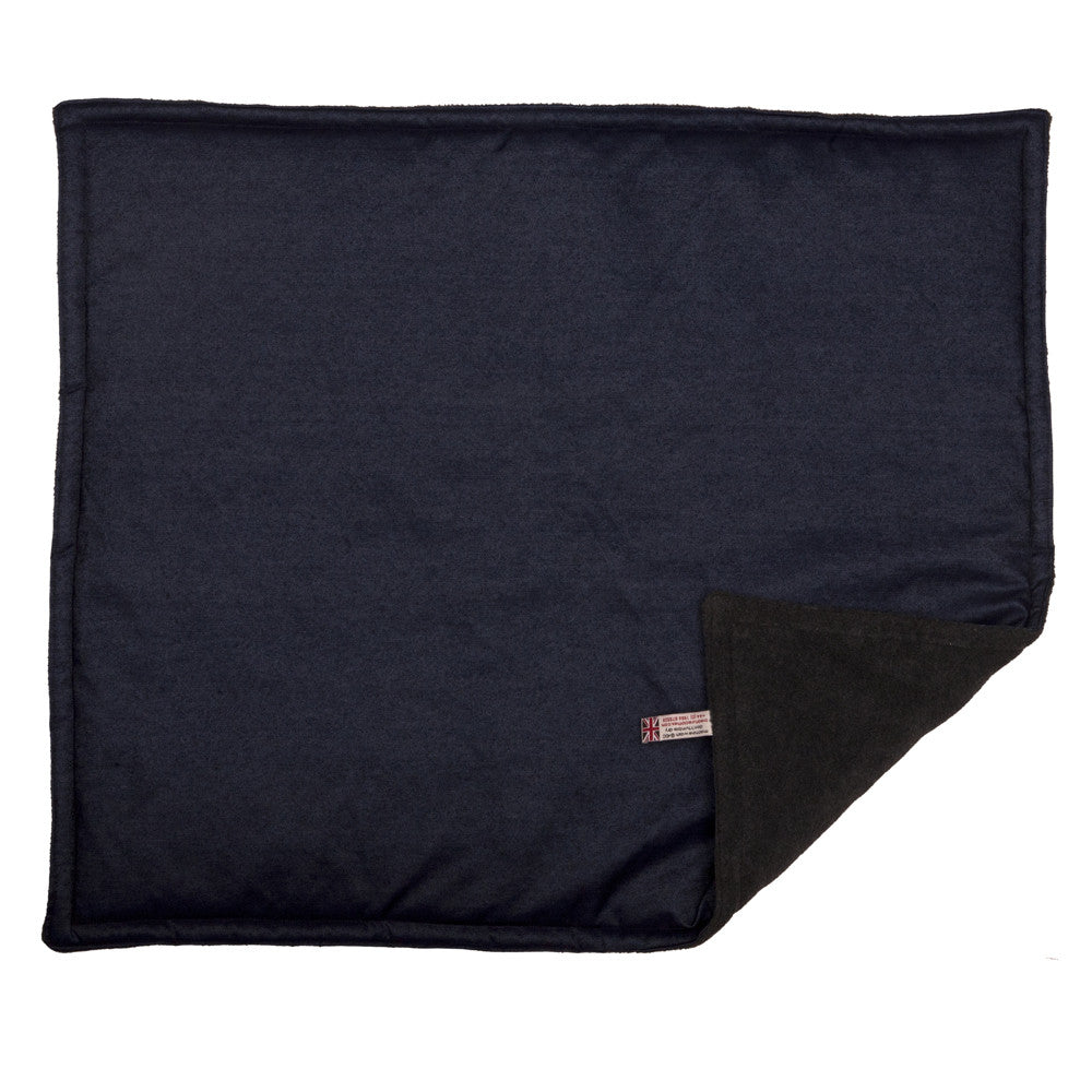 Creature Clothes Padded Blanket in Denim with Grey Fleece - PurrfectlyYappy