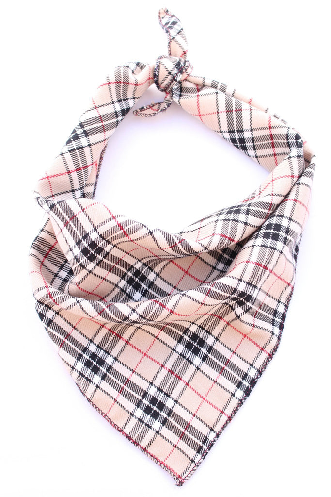 Pet Pooch Boutique Bandana Plaid Burberry - PurrfectlyYappy