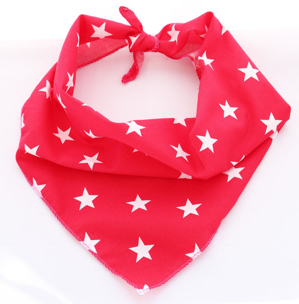 Pet Pooch Boutique Bandana in Red Star - PurrfectlyYappy
