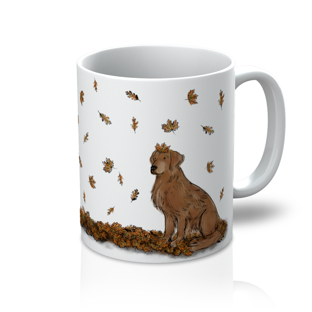 PY Autumn Leaves Golden Retriever Mug - PurrfectlyYappy