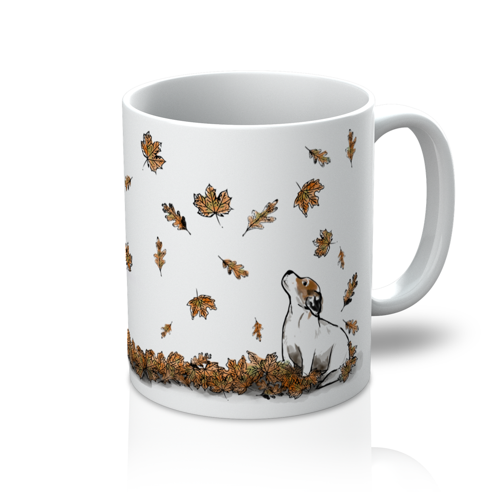 PY Autumn Leaves Jack Russell Mug - PurrfectlyYappy