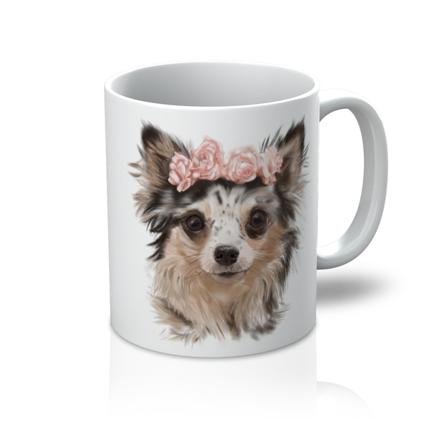 Heidi the Chihuahua Mug in White - PurrfectlyYappy