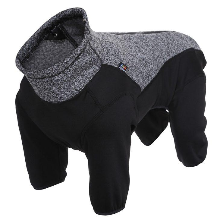 Rukka Pets Subrima Technical Knit Fleece Overall in Black - PurrfectlyYappy