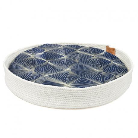The Nest Cat Bed or Dog Bed by Meyou - Blue Graphic Cushion