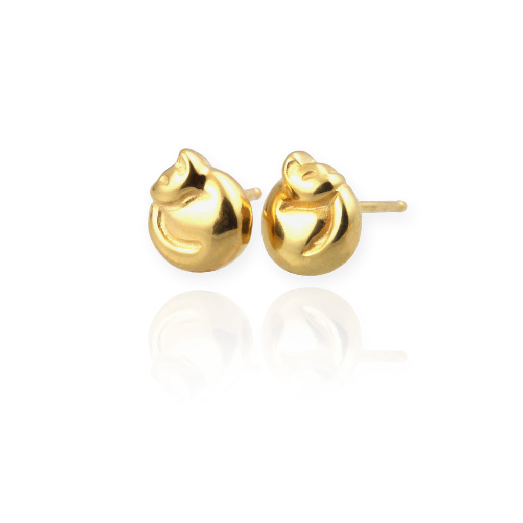 Jana Reinhardt Cat Stud Earrings - PurrfectlyYappy