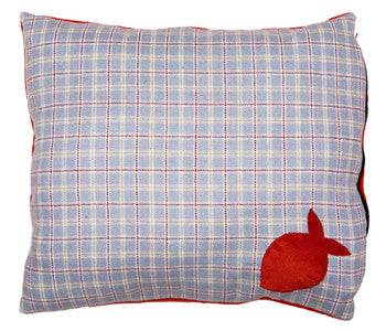 Creature Clothes Cat Nappa Cat Bed in Light Blue Check