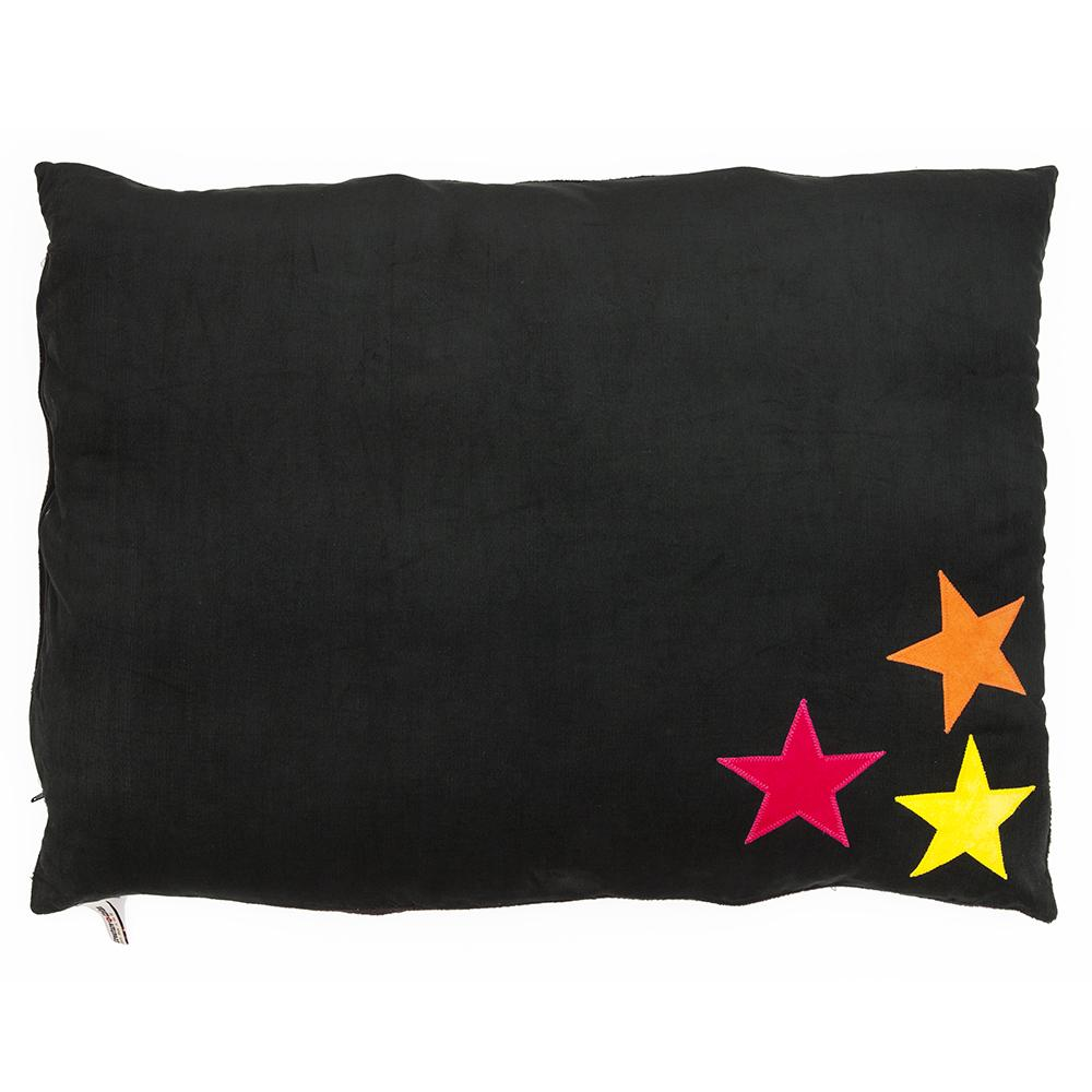 Creature Clothes Black 3 Star Neon Doza Dog Bed - PurrfectlyYappy