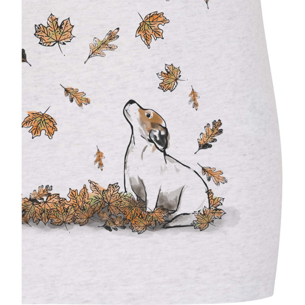 Women's Autumn Leaves Jack Russell Organic Cotton T-Shirt - PurrfectlyYappy