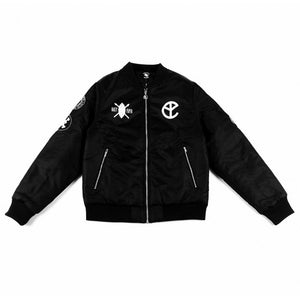 BFM BLACK BOMBER JACKET