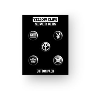 YELLOW CLAW NEVER DIES BUTTON PACK