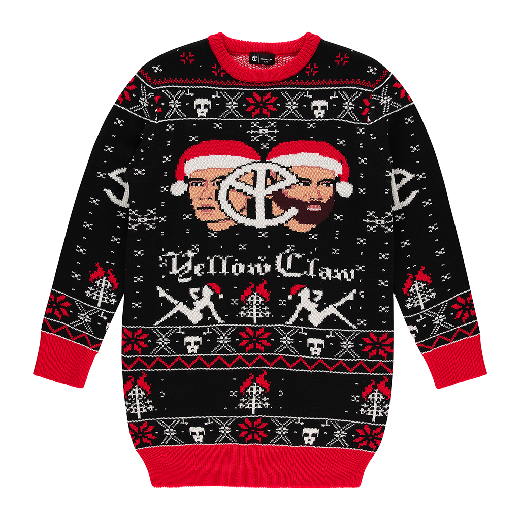 YELLOW CLAW CHRISTMAS SWEATER DRESS