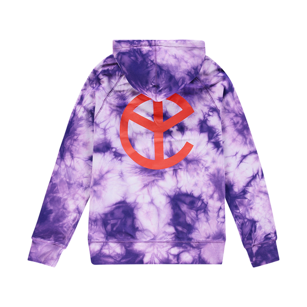 NEW BLOOD PURPLE TIE DYE LOGO HOODIE