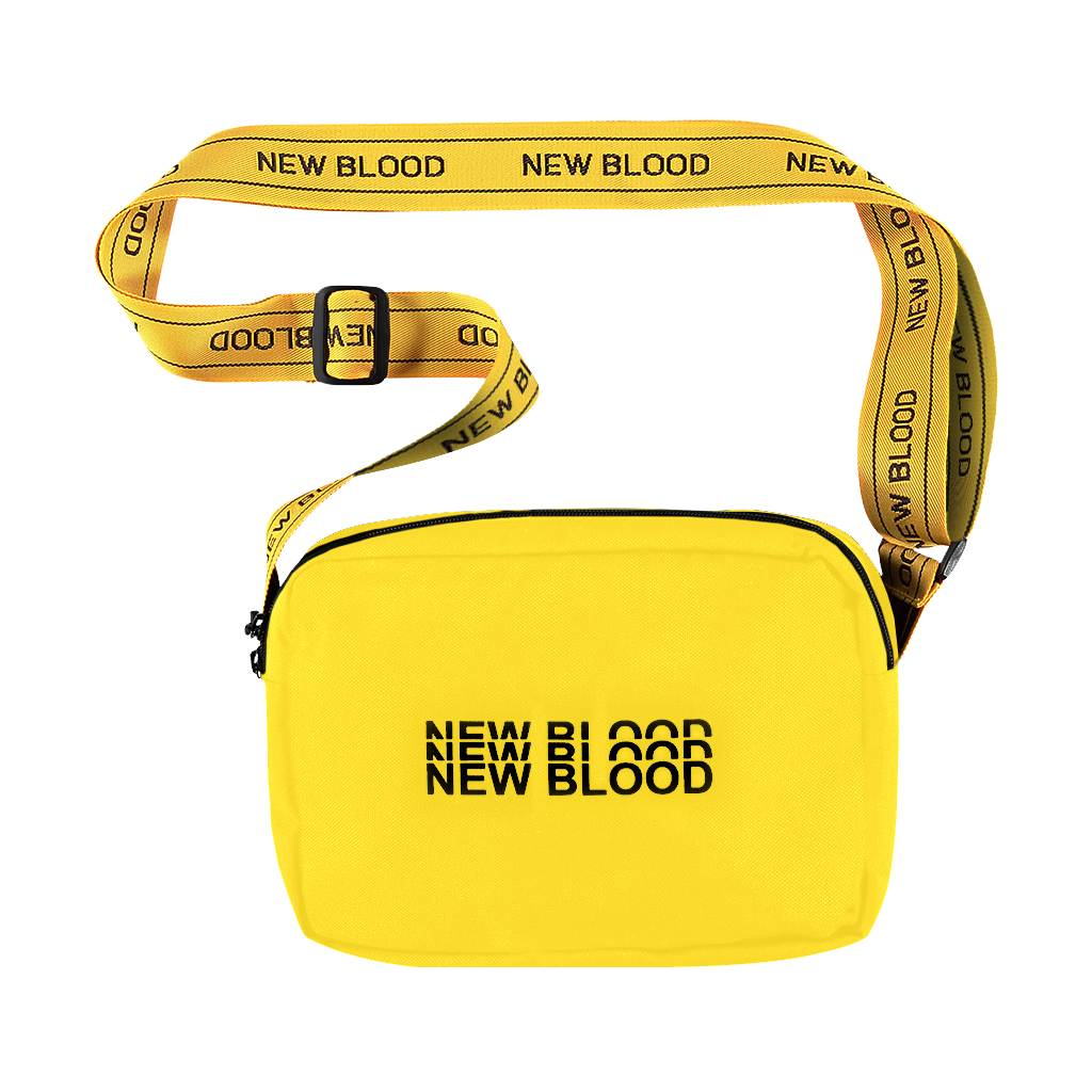 NEW BLOOD YELLOW TRIPLE LOGO WAISTBAG