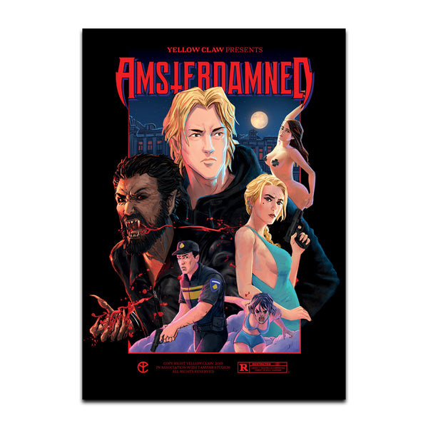 !SALE! AMSTERDAMNED MOVIE POSTER