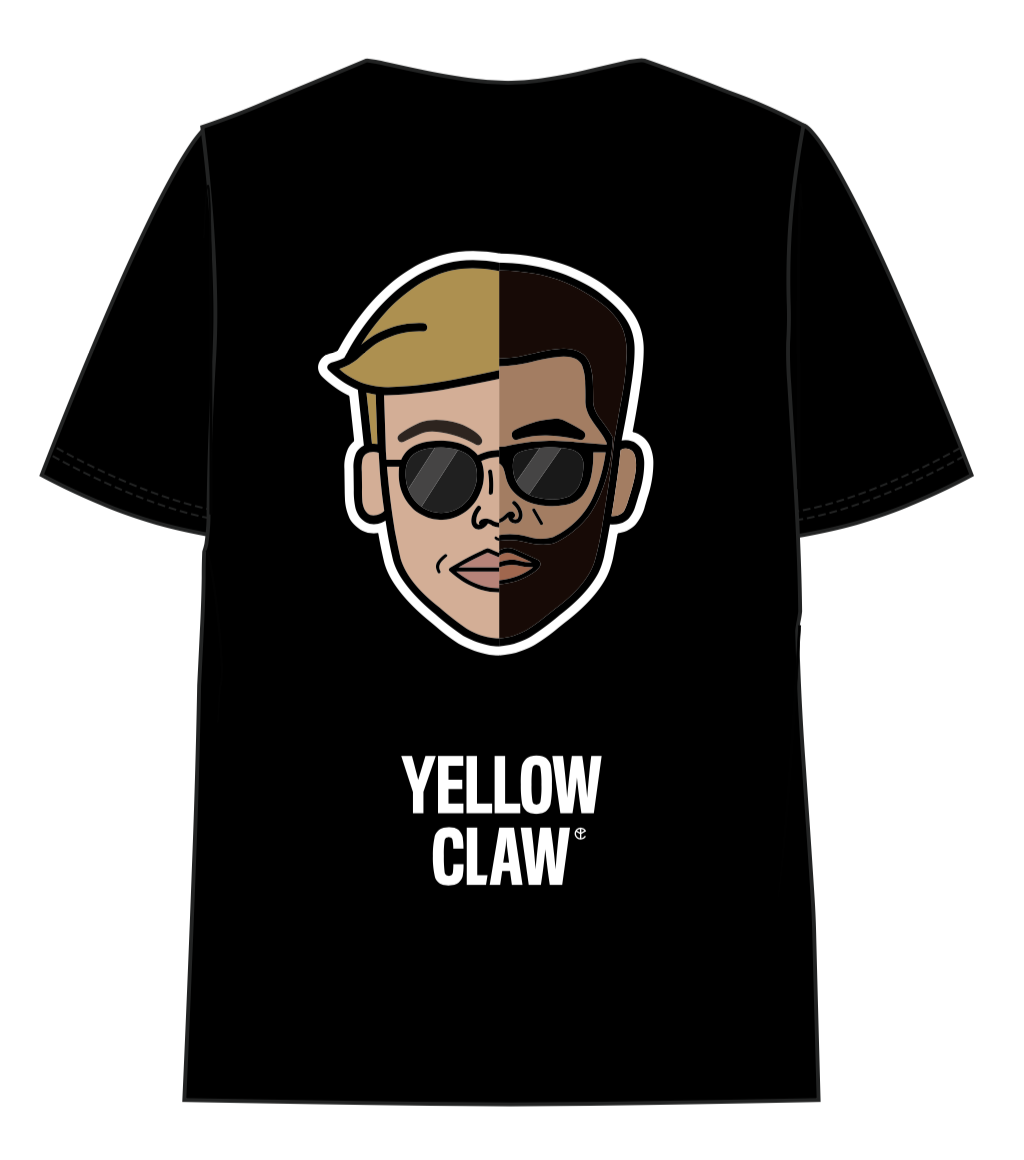 YELLOW CLAW FACE TEE