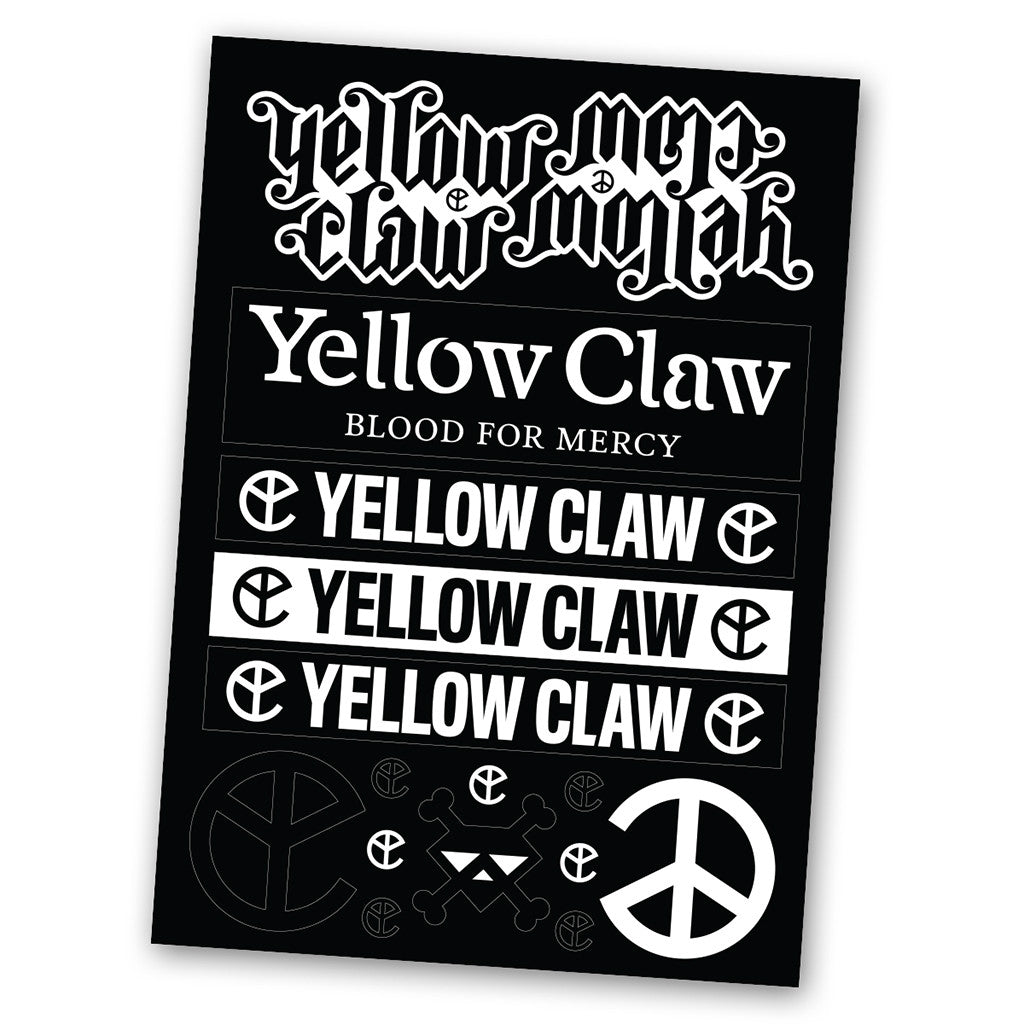 YELLOW CLAW STICKER PACK