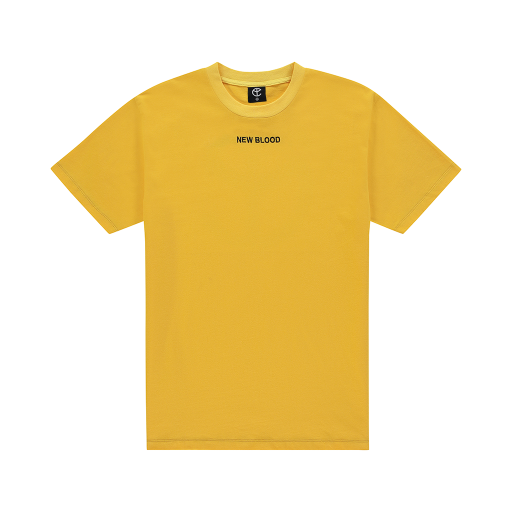 NEW BLOOD YELLOW LOGO TEE