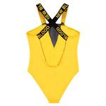 NEW BLOOD YELLOW MESH BATHING SUIT