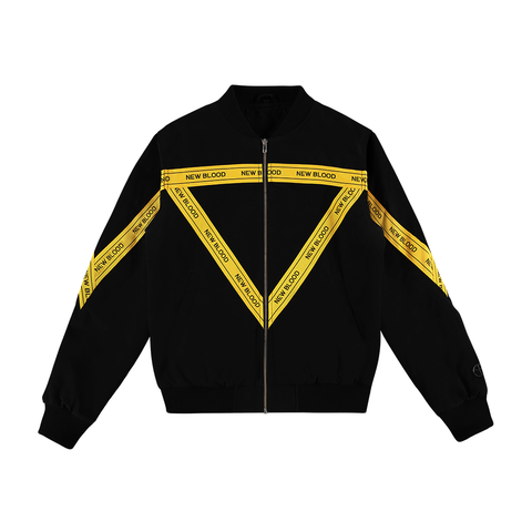 NEW BLOOD TAPED BOMBER JACKET