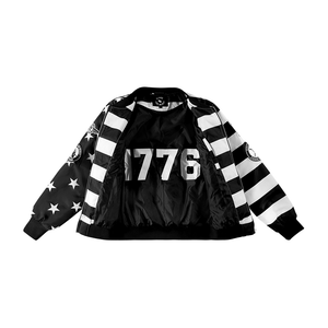BFM BLACK AND WHITE USA BOMBER JACKET
