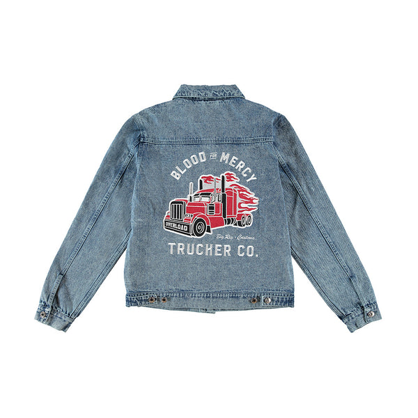 bfm trucker jeans jacket yellow claw