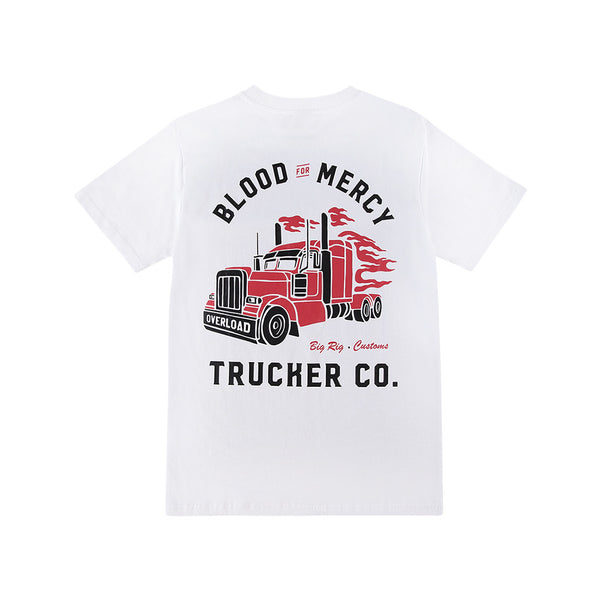BFM WHITE TRUCKER TEE