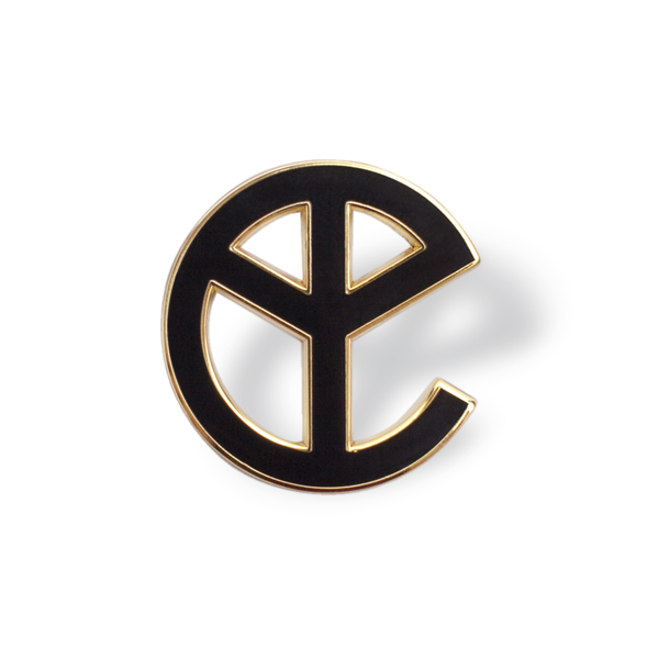 YELLOW CLAW PEACE LOGO PIN
