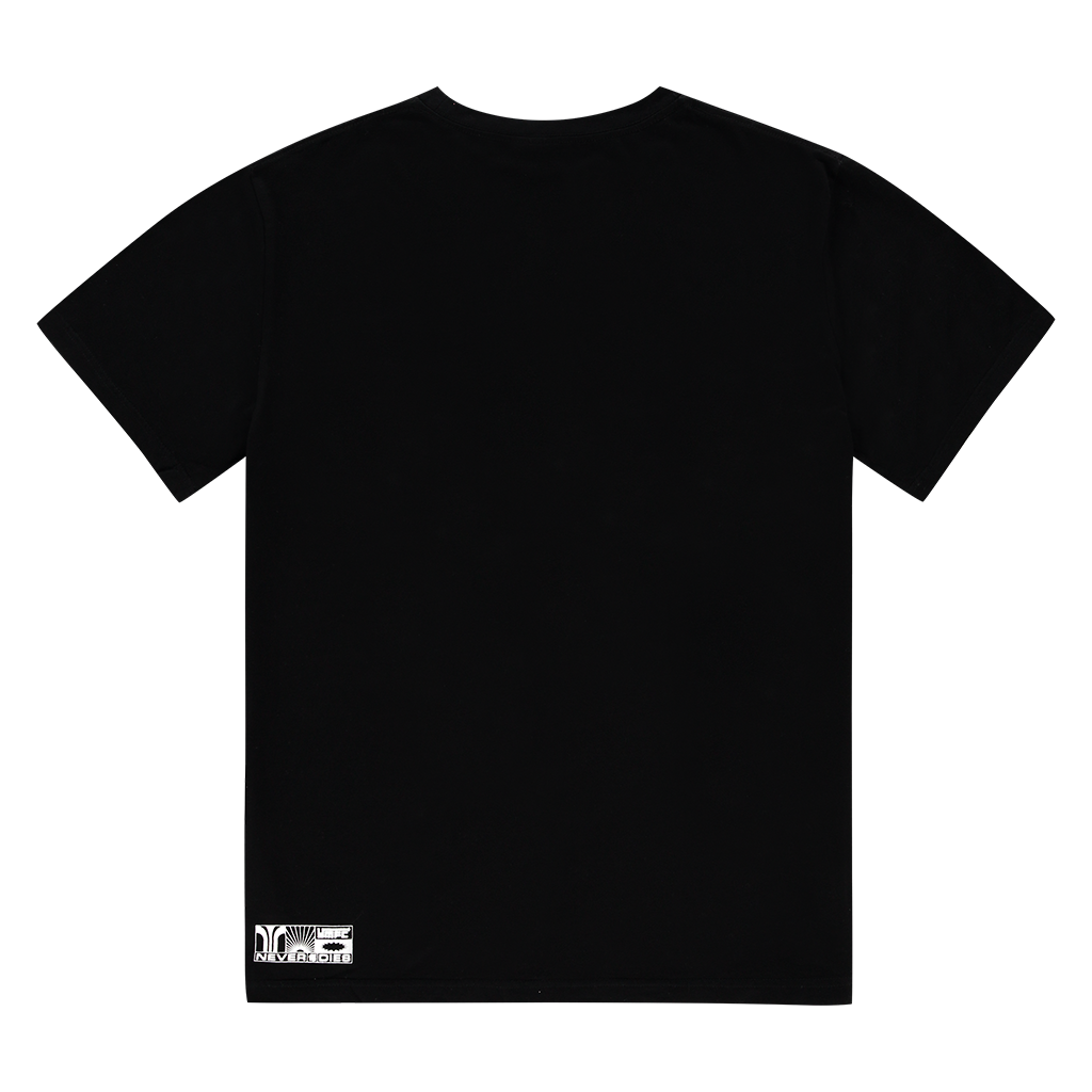 NEVER DIES BLACK LOGO TEE