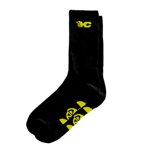 YELLOW CLAW BLACK SOCKS