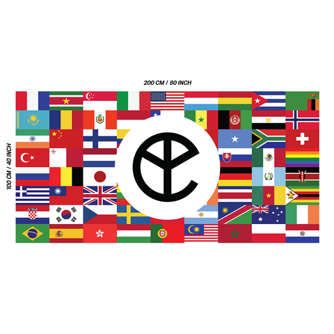 YELLOW CLAW WORLDWIDE FLAG