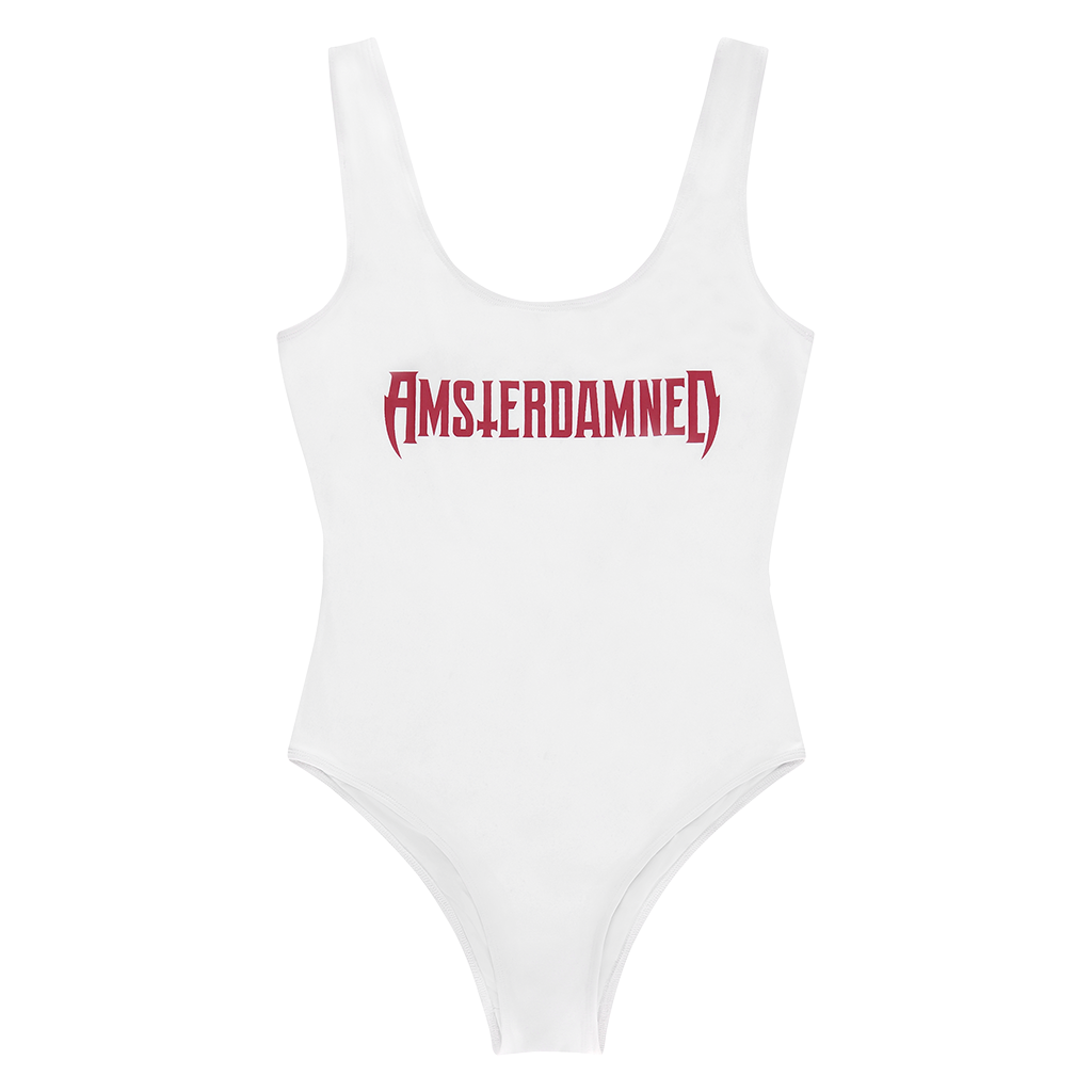 AMSTERDAMNED WHITE BATHING SUIT