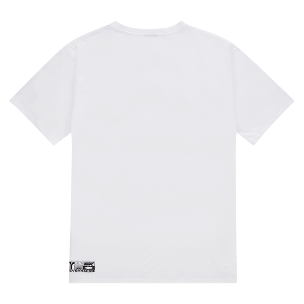 NEVER DIES WHITE LOGO TEE