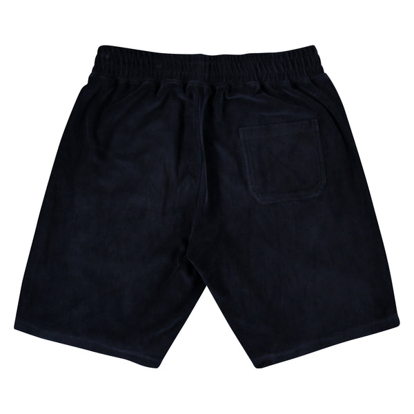BFM NAVY VELOUR SHORT