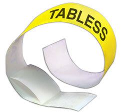 Tabless Tyvek Wristbands