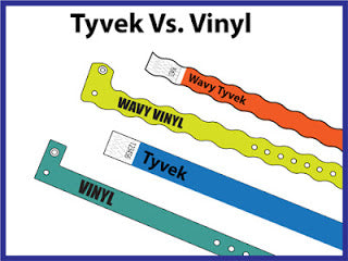Tyvek VS Vinyl Wristbands