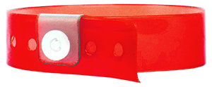 red vinyl wristbands
