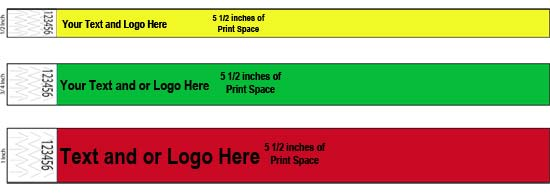 Custom Print On Paper Wristbands