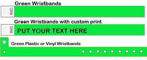 Printing on Green bands.