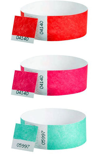 Dual Numbered Tyvek Wristbands