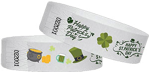 Happy St Paddy Day Wristbands For Events!