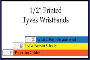 1/2 Tyvek Wristbands