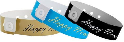 Happy New Year Wristbands