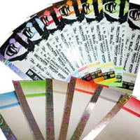 Thermal Tickets with a Hologram Strip