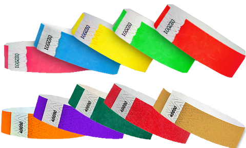 tyvek mulit pack wristbands