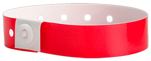 red plastic wristbands
