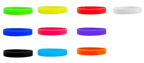 Custom Print On Silicone Wristbands for your campus events.