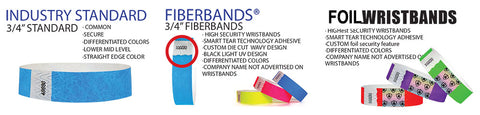 tyvek wristbands, we have 3 types for security